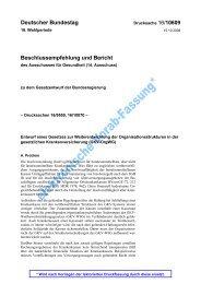 elektronische Vorab-Fassung* - Gesundheitspolitik.net