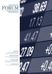 Aktuelle Informationen der LGT Bank (Schweiz) AG Ausgabe Oktober ...