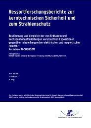 Ressortforschungsberichte zur kerntechnischen ... - milieuziektes