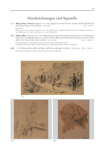 Handzeichnungen und Aquarelle