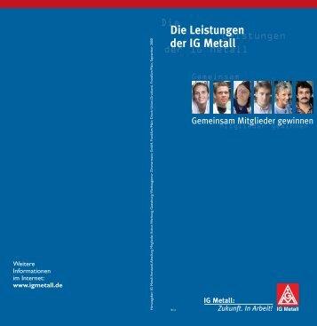 Leistungen der IG Metall - oja-potsdam.de