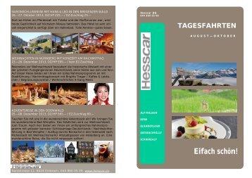 finden Sie saisonale und attraktive Tagesfahrten - Hesscar AG