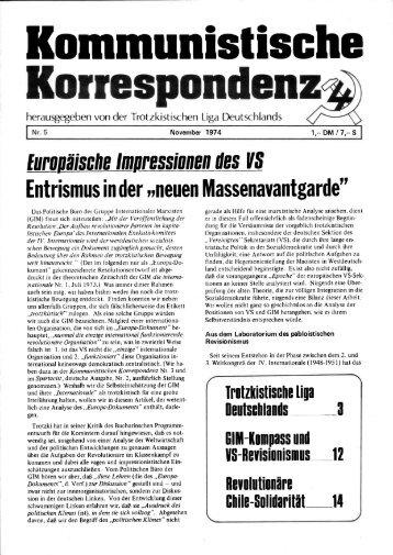 KK 05/74 - International Bolshevik Tendency