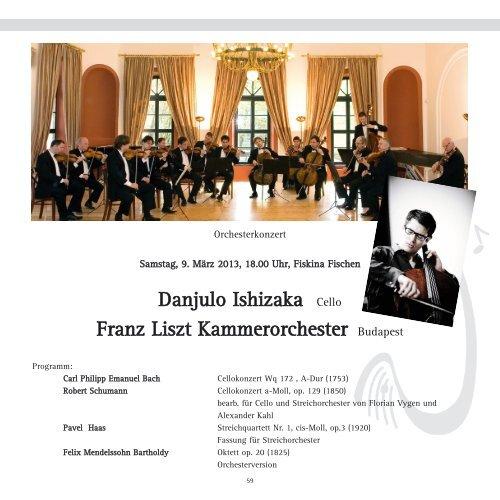 Danjulo Ishizaka Cello Franz Liszt Kammerorchester Budapest
