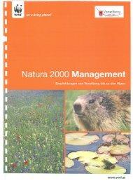 Broschüre: Management von Natura 2000 - Vorarlberg