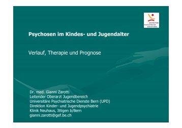 Psychosen im Kindes- und Jugendalter Verlauf, Therapie und ...