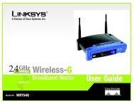 Wireless-G WRT54G User Guide - Surveillance System, Security ...