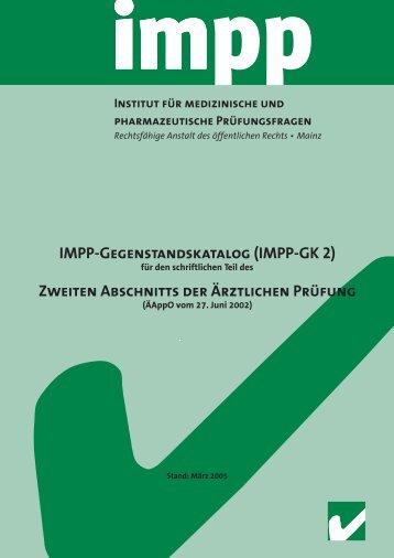 Zweiten Abschnitts der Ärztlichen Prüfung - IMPP
