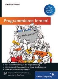 Leseprobe zum Titel: Programmieren lernen! - Die Onleihe