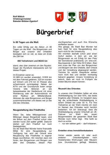 Bürgerbrief - Bakede
