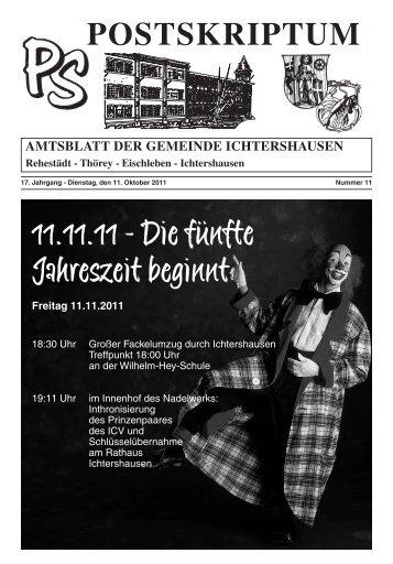 Amtsblatt Oktober 2011 - Ichtershausen