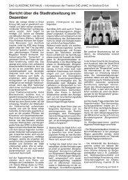 Bericht über die Stadtratssitzung im Dezember - André Blechschmidt