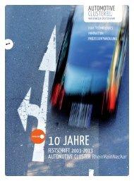 Festschrift - 10 Jahre Automotive-Cluster RheinMainNeckar