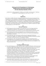 Ordnung für die Praxisphasen im Studiengang Medizinisches ...