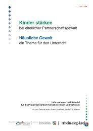 Kinder stärken bei elterlicher Partnerschaftsgewalt - Rhein-Sieg-Kreis