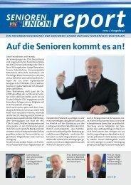 Auf die Senioren kommt es an! - Senioren-Union NRW