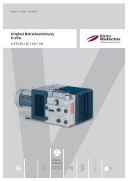 Original Betriebsanleitung V-VTA - Elmo Rietschle