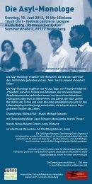 Die Asyl-Monologe - Fachschaftskonferenz der Uni Heidelberg