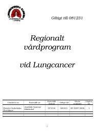Regionalt vårdprogram vid Lungcancer Sydöstra regionen 2007