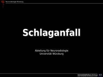 Schlaganfall - Abteilung für Neuroradiologie