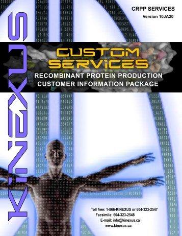 Download full Custom Recombinant Protein Production - Kinexus ...
