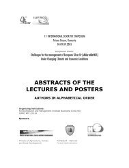 ABSTRACTS OF THE LECTURES AND POSTERS