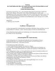 Satzung der Stadt Ballenstedt über die Sondernutzung in den ...