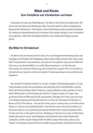 Bibel und Koran.rtf - Vorträge von Reinhart Gruhn