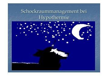Schockraummanagement bei Hypothermie