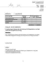 BV 301 - 2. Neufassung der Parkgebührenordnung - Halberstadt