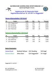 Herren-Mannschaften - Bayerischer Gehörlosen Sportverband ev