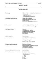 Modul Recht - Prof. Dr. jur. Hans-Joachim Bauschke