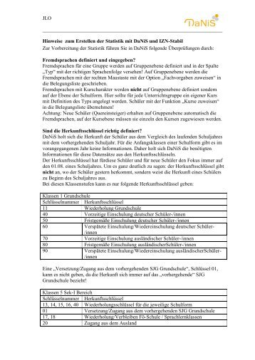 Statistik mit DaNiS und IZN.pdf - Jloe.de