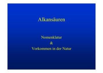 Alkansäuren - Jagemann-net.de