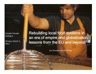 Rebuilding local food systems in Rebuilding local food systems in ...