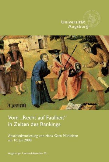 """Vom """"Recht auf Faulheit"""" in Zeiten des Rankings - Pressestelle der ..."""