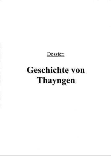 Geschichte von Thayngen