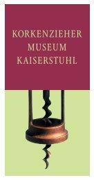 KORKENZIEHER MUSEUM KAISERSTUHL - Kaiserstuhlshop.de ...