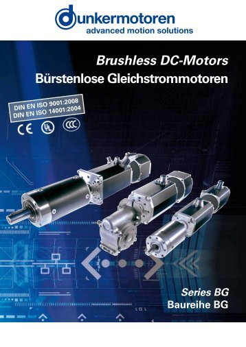 Brushless DC-Motors Bürstenlose Gleichstrommotoren - M Rutty & Co.