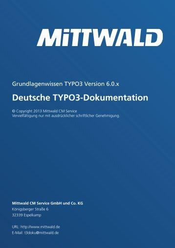 Deutsche TYPO3-Dokumentation - Mittwald