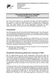 V040902 Ausgangslage Mangelhafter Miteinbezug pflegerischer ...