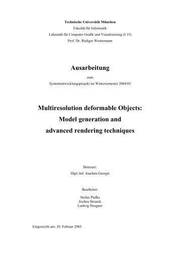 Ausarbeitung (PDF) - Fakultät für Informatik - Technische Universität ...