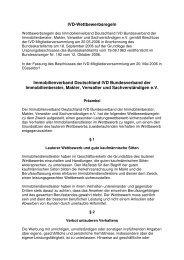 IVD-Wettbewerbsregeln Immobilienverband ... - IVD Mitte Ost