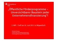 """""""Öffentliche Förderprogramme – Unverzichtbarer ... - Stadt Wipperfürth"""