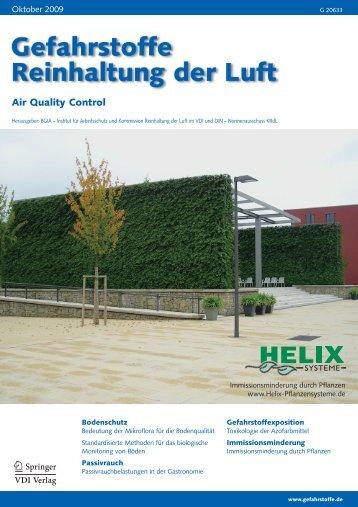 Abscheidung und Abwaschung von Feinstaub an Efeu - Helix ...