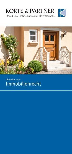 Broschüre Immobilienrecht - Korte & Partner