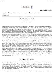 Auch der Kapitalisierungszins ist nicht in Stein ... - Hardy-Landolt.ch