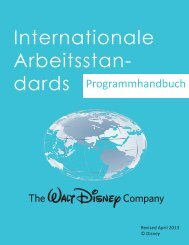 Internationale Arbeitsstan- - The Walt Disney Company