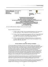Verordnung des Kultusministeriums über die Erste Staatsprüfung für ...
