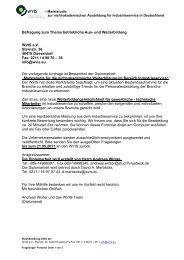 Marktstudie Aus- und Weiterbildung für Industrieservice - WVIS ...